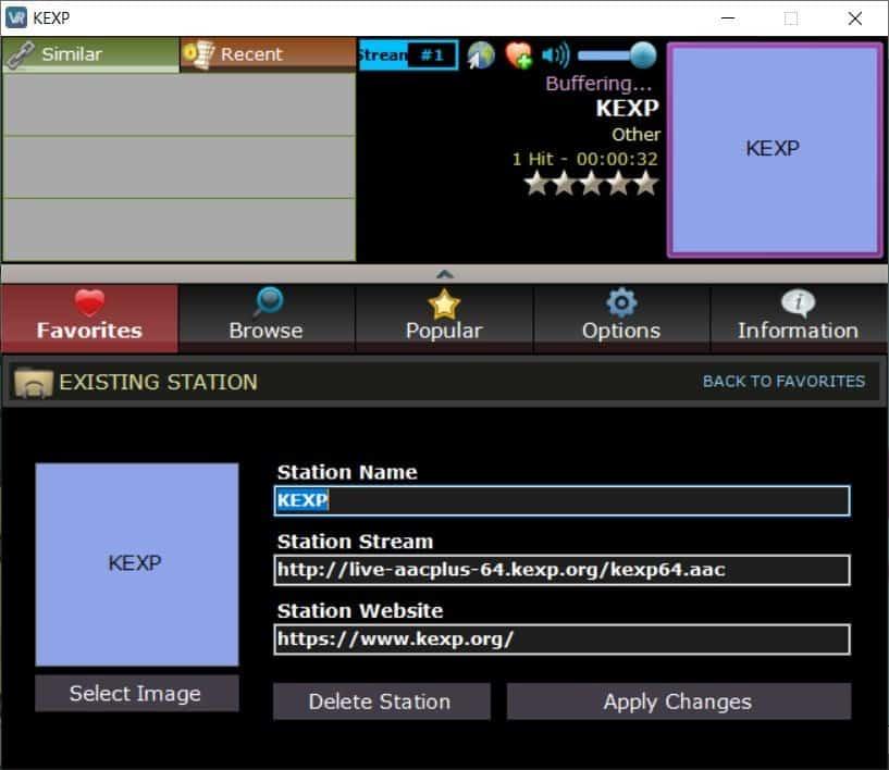 VRadio add new station