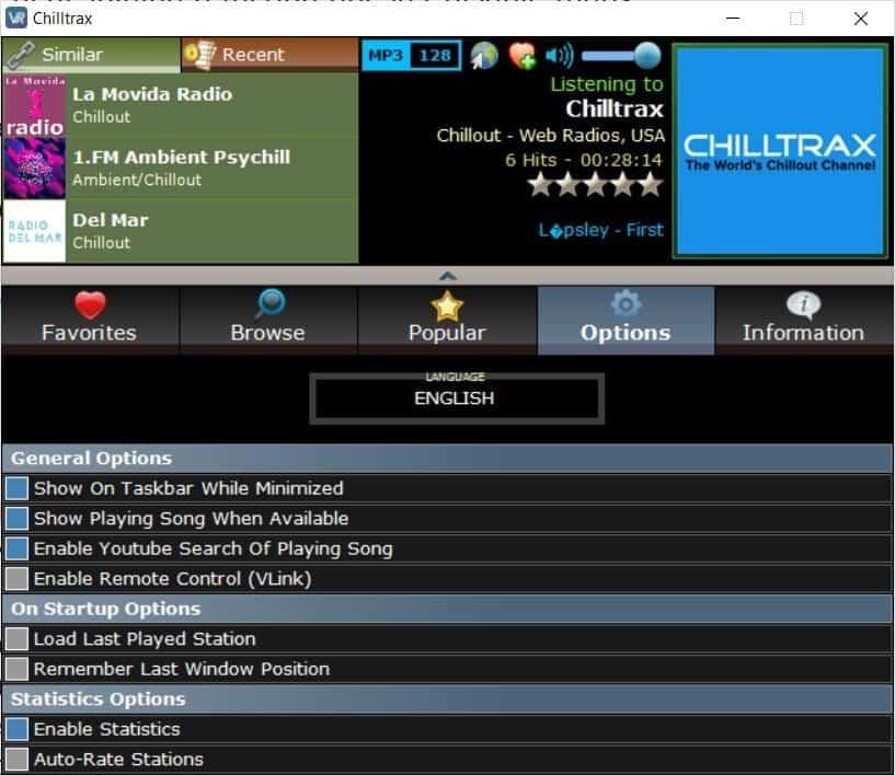 VRadio options