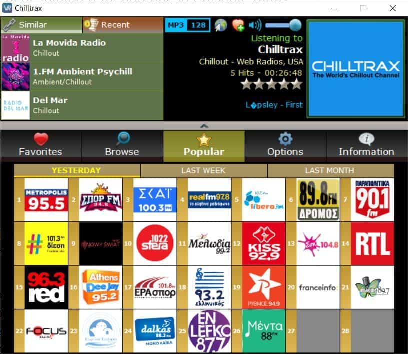 VRadio popular radio stations