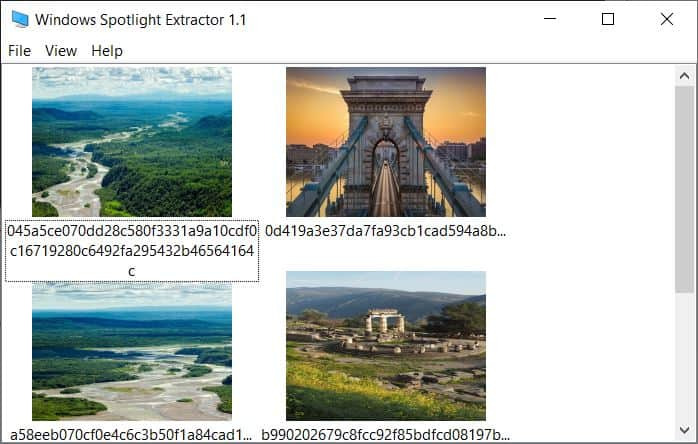 Windows Spotlight Extractor is a tool that lets you view and save the wallpapers downloaded by Spotlight