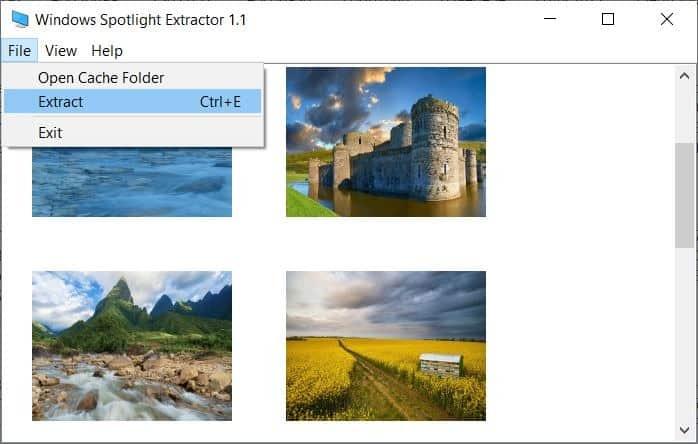 Windows Spotlight folder extract
