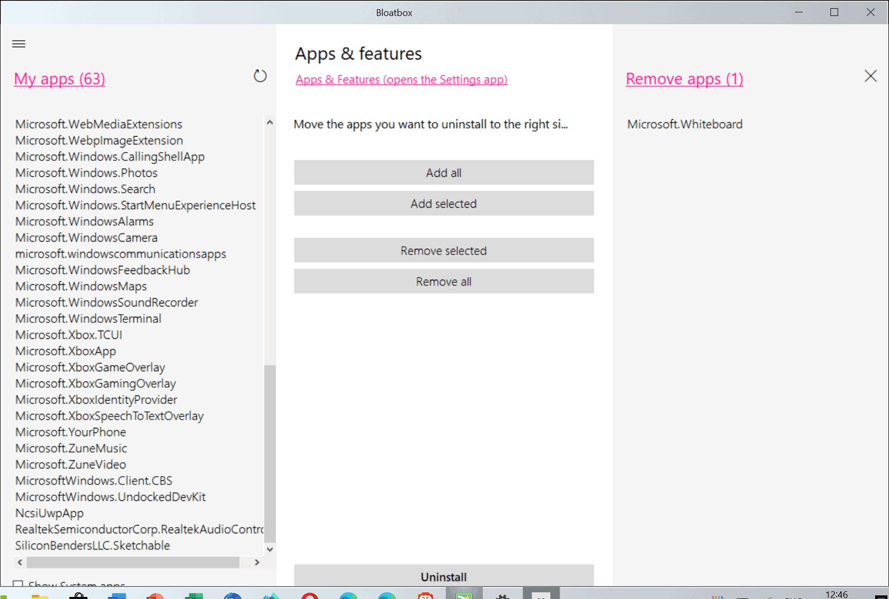 bloatbox remove windows apps