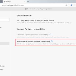 edge enable Internet Explorer mode