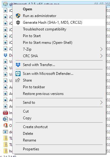 igorware hasher context menu