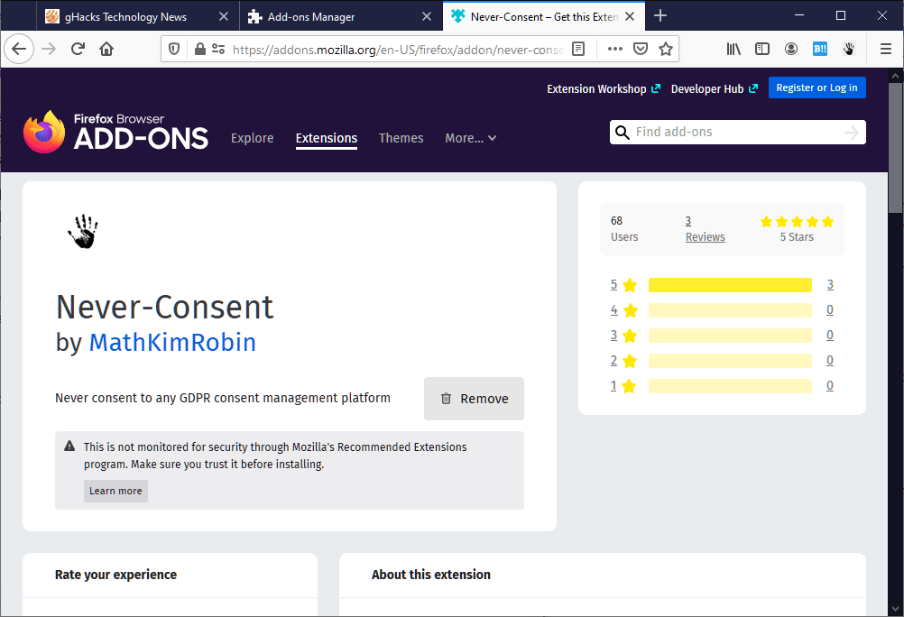 never consent gdpr