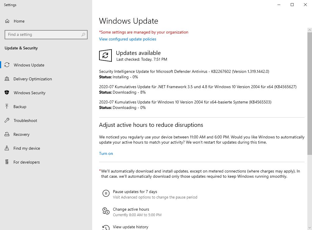 windows security updates july 2020