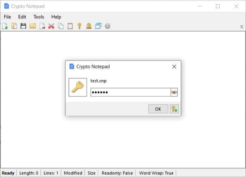 Crypto Notepad encrypted documents