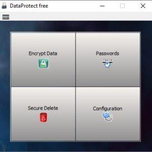 Encrypt your files or delete them securely with DataProtect Free