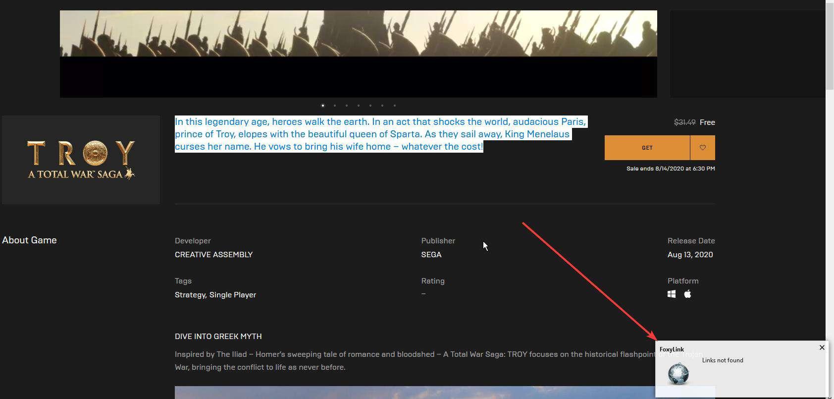 FoxyLink links not found