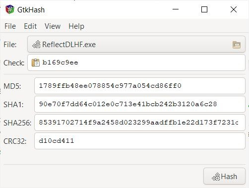 GtkHash calculate hash values