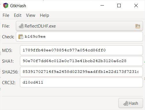GtkHash calculate hash values