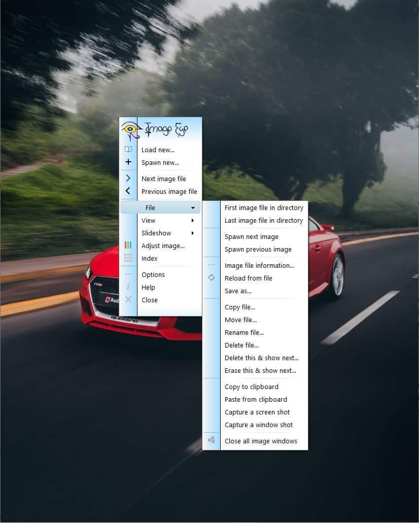 Image Eye menu