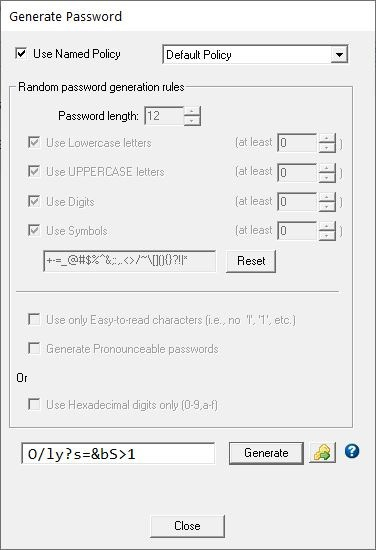 Password Safe Generate Password