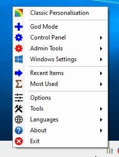 Win10 All Settings menu