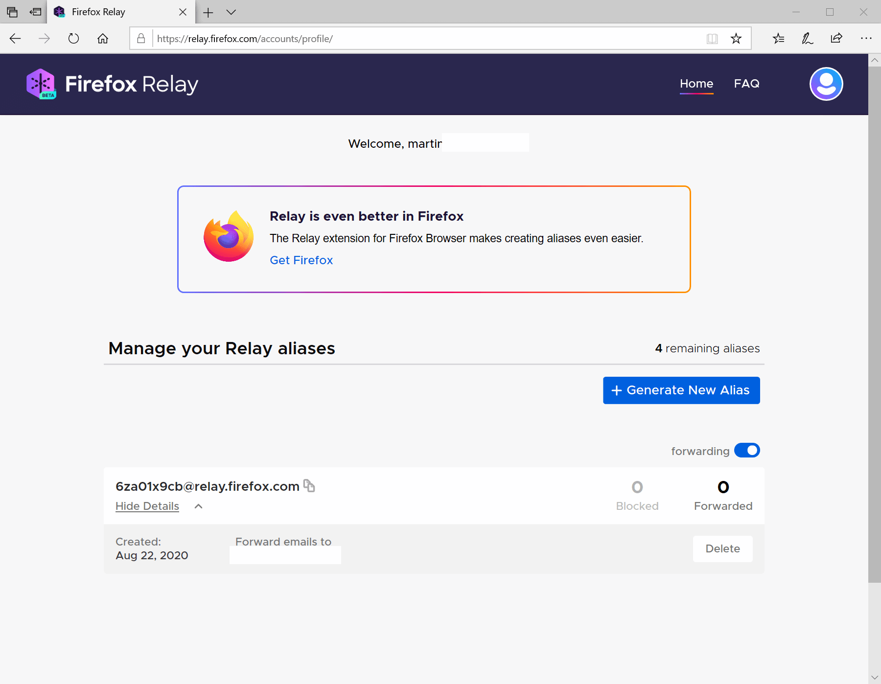 Firefox Relay: create email aliases to combat spam and improve privacy