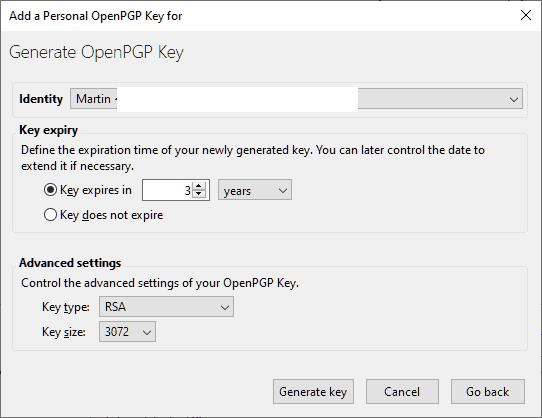 generate openpgp key