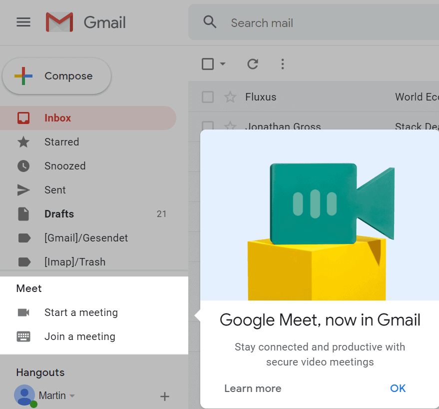 gmail google meet