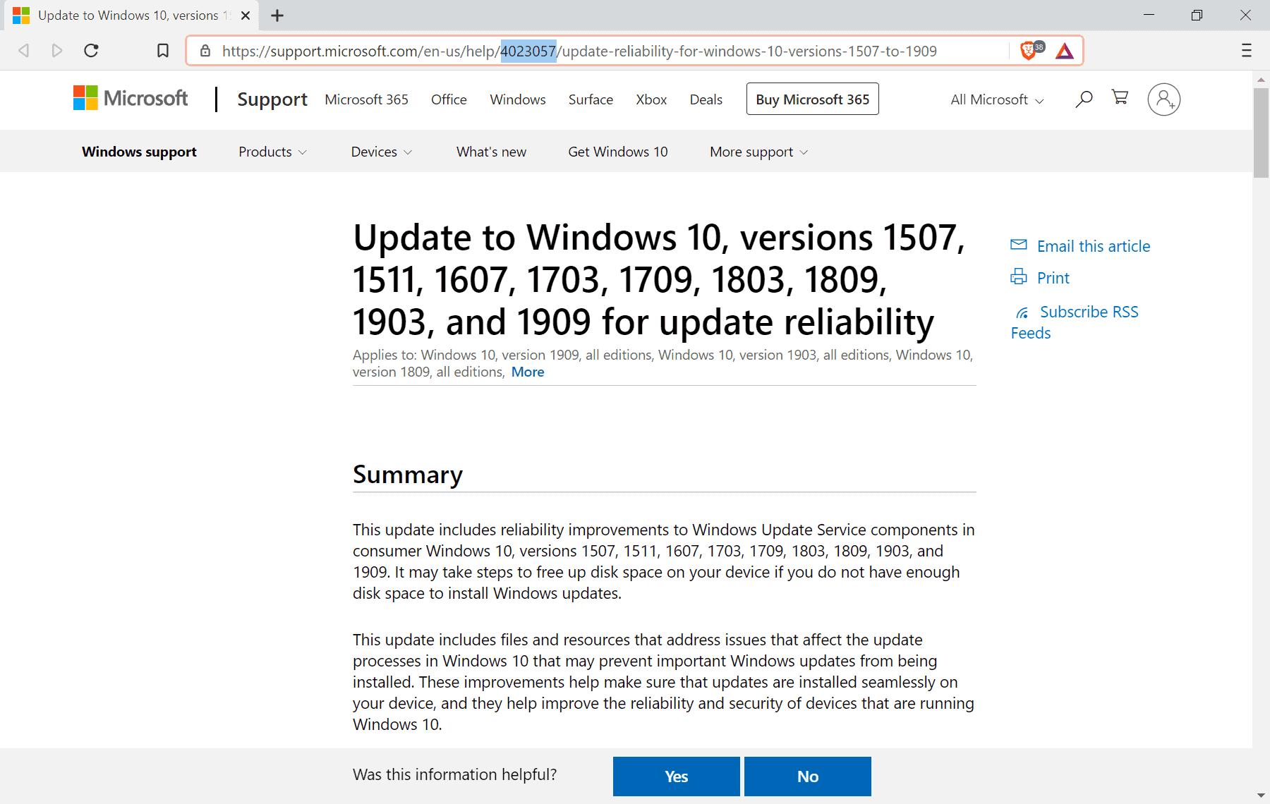 windows 10 kb4023057 update