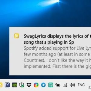 BalloonRSS displays a notification on your desktop to alert you when a new article is available in an RSS feed