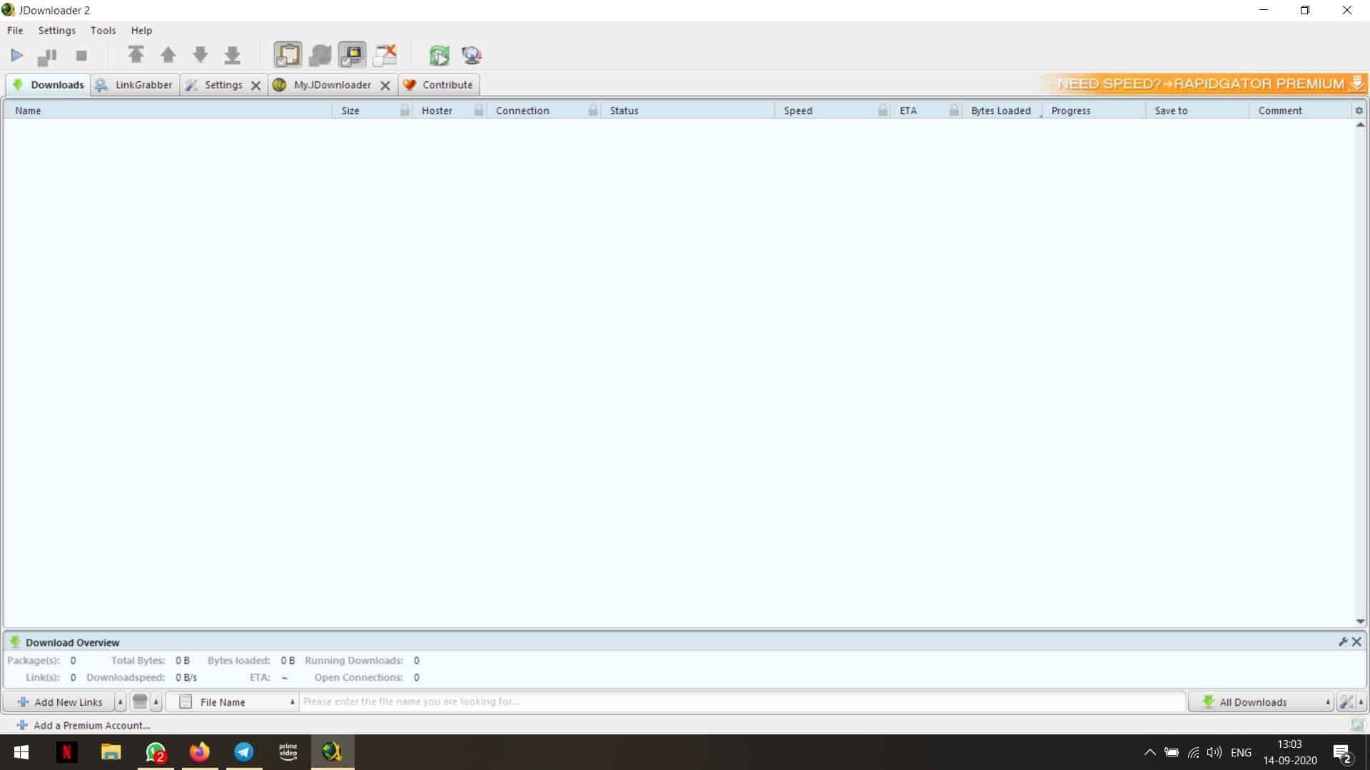 JDownloader blurry text issue Windows 10