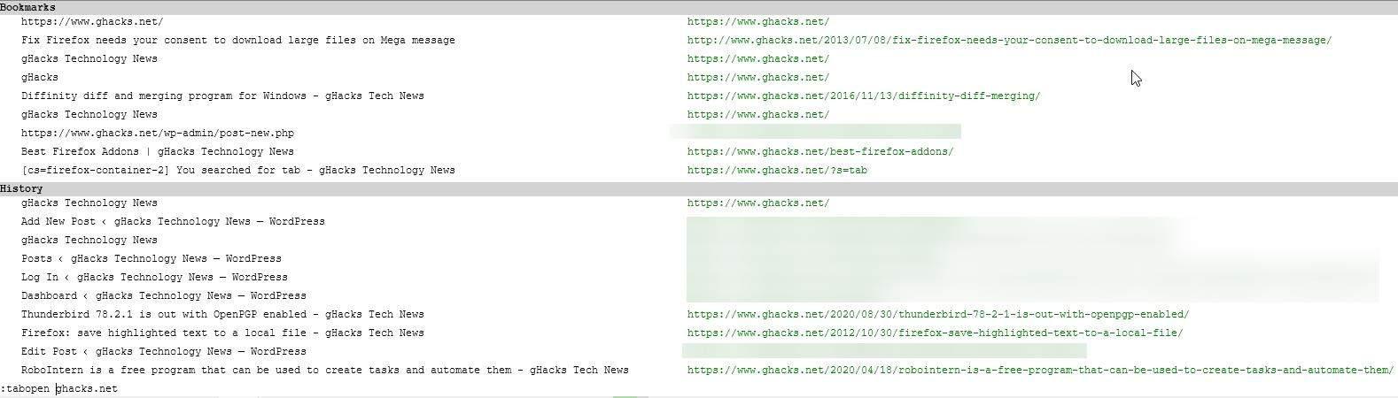 Vim Vixen console open url in a new tab