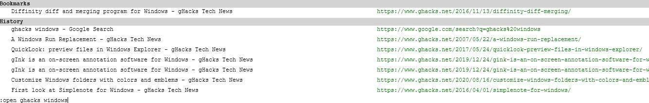 Vim Vixen console search google