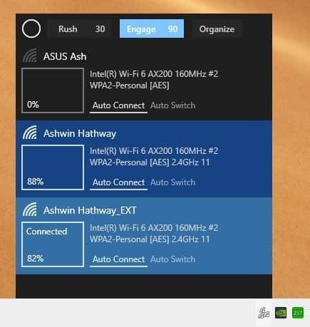 Wifinian Engage - автоматическое переключение отключено