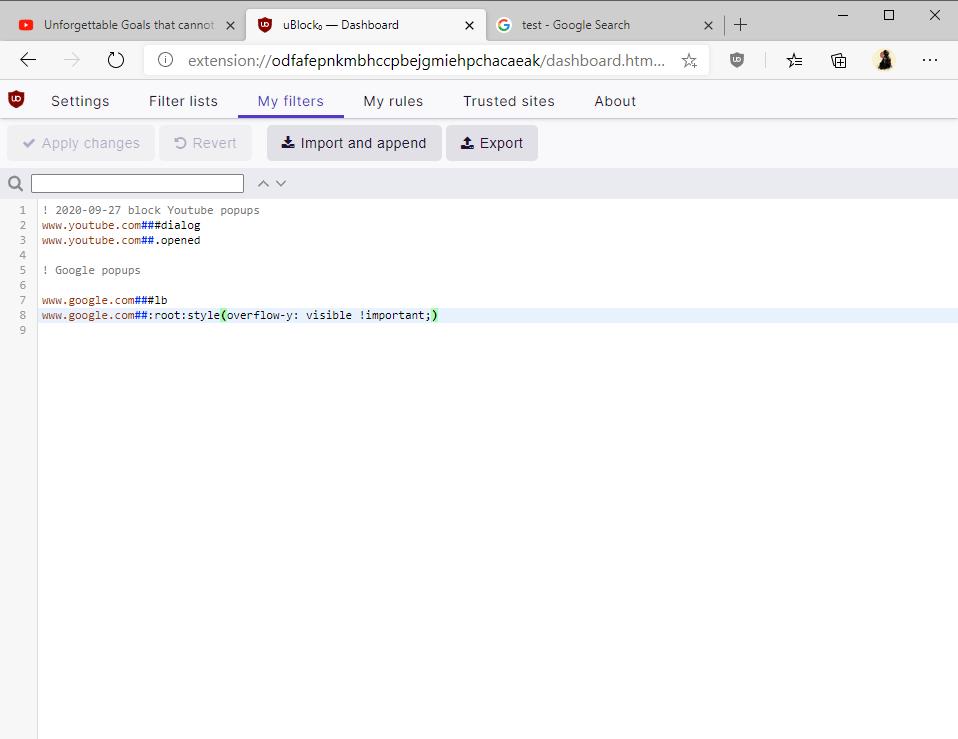 block google before you continue ublock
