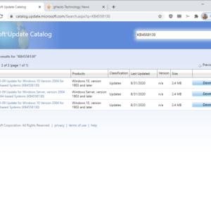 intel microcode updates KB4558130 KB4497165