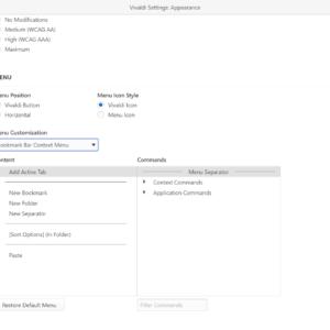 vivaldi edit context menus