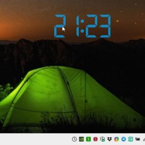 Digital Clock 4 displays a highly customizable clock widget on your desktop; also supports alarms, hourly chimes and more