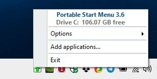 Portable Start Menu tray icon