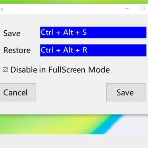 Restore windows to their saved size and position with using Window Resizer