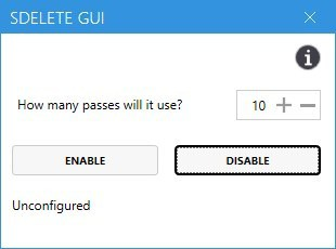 SDelete GUI uninstall