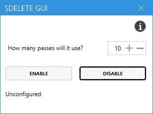 SDelete GUI uninstall