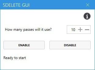 SDelete GUI