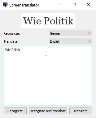 ScreenTranslator pop-up translation box