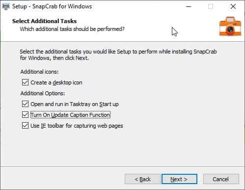 SnapCrab installation process