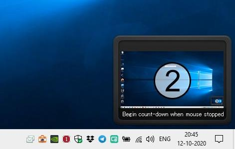 SnapCrab preview timer