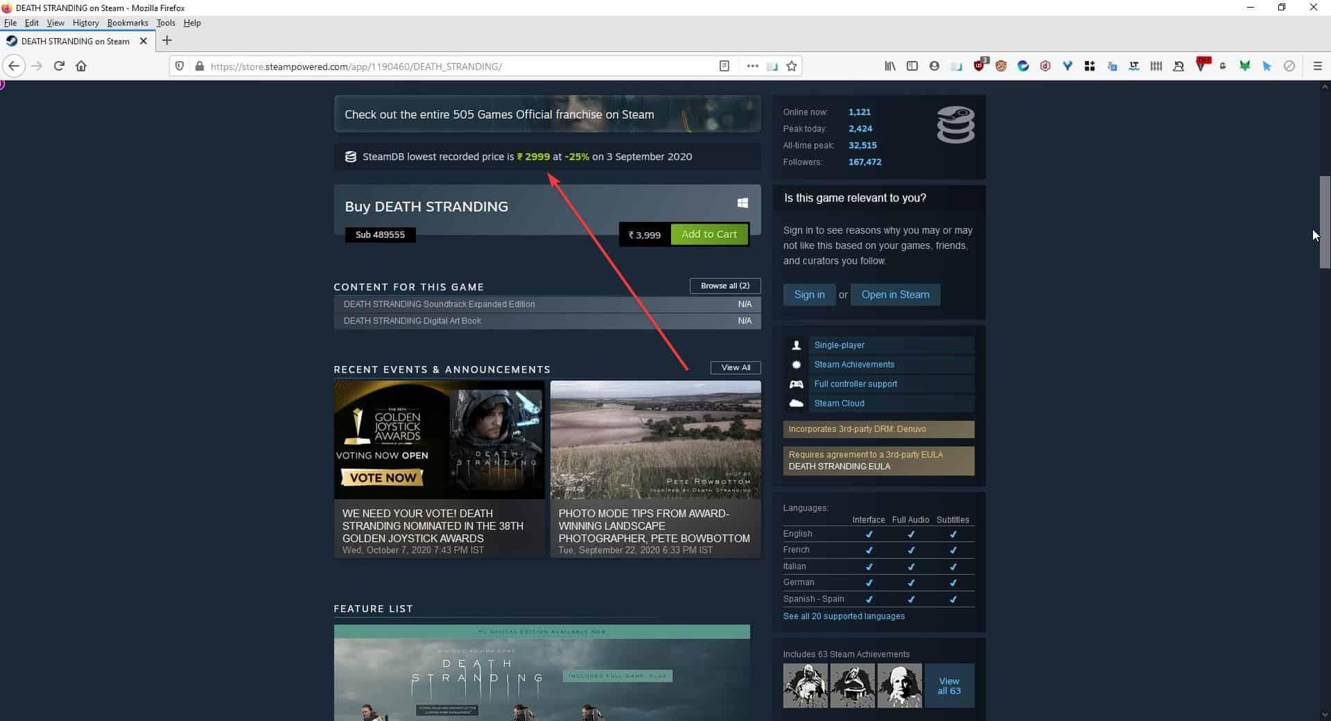 Steamdb price history banner