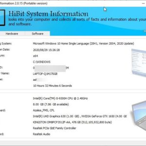 View your computer's hardware and software details, generate a HTML report with HiBit System Information