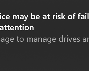 a storage device may be at risk of failure