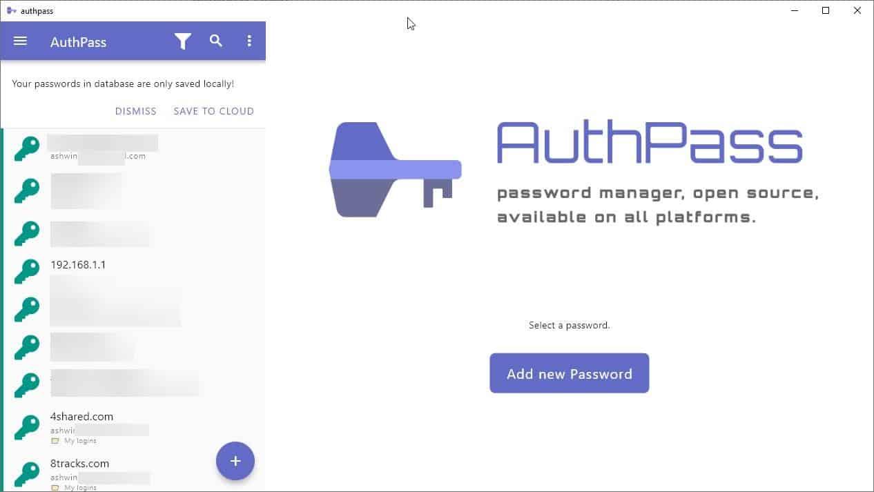 authpass database