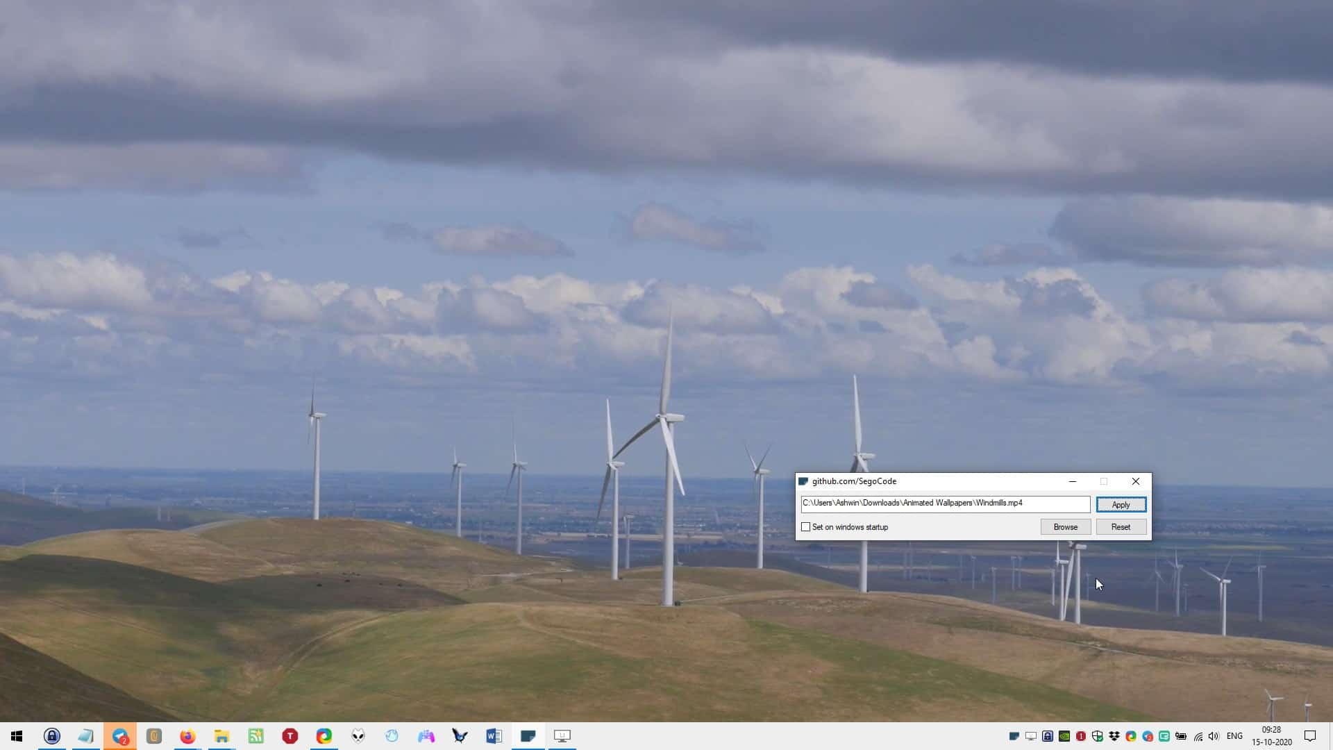 autowall windmill wallpaper