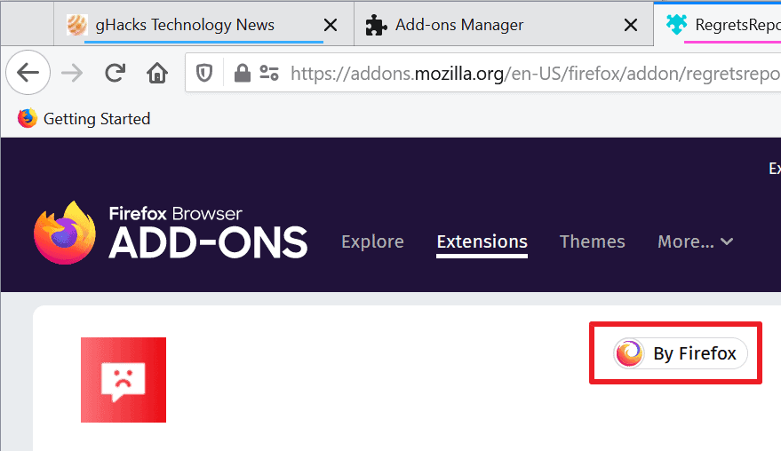 Mozilla adds two Firefox add-on badges (verified and by Firefox)