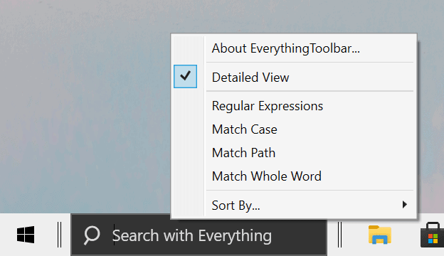 everything search options