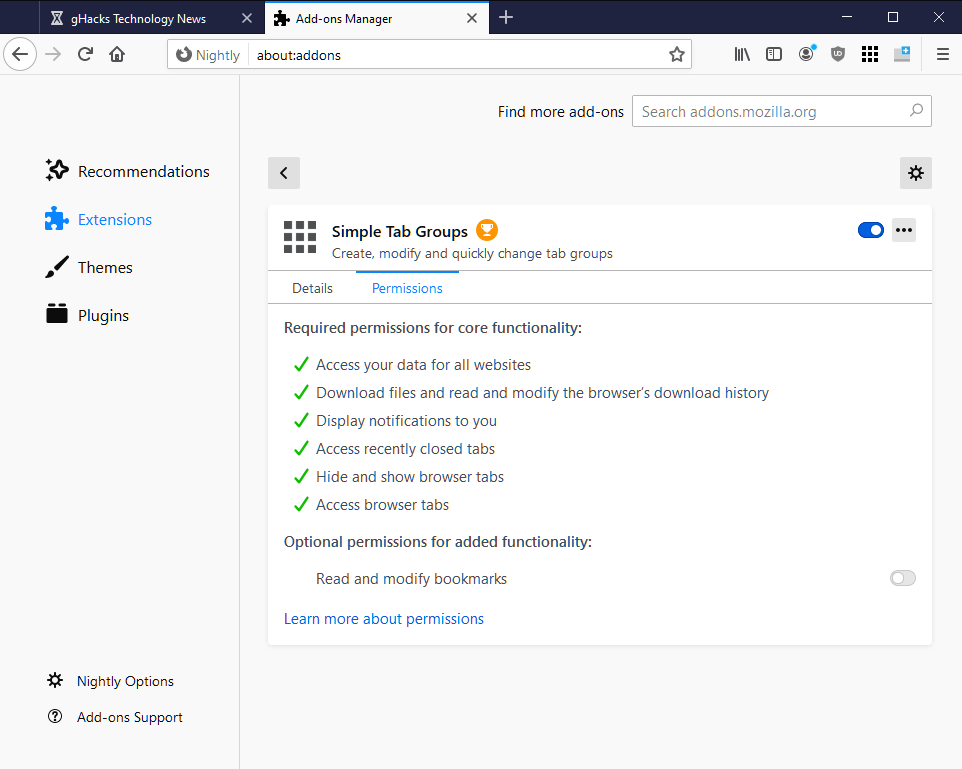firefox revoke optional permissions