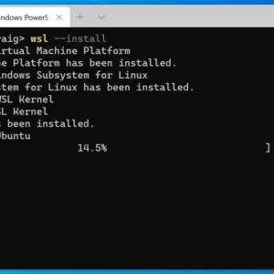 install wsl windows 10