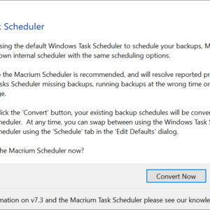 new task scheduler macrium