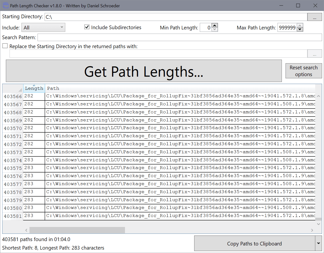 path length checker